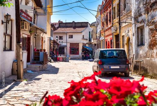 Leinwanddruck Bild Altstadt von Skopje, Mazedonien