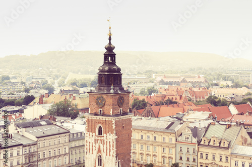 Town Hall Tower and cityscape of Krakow © espiegle