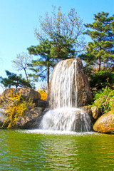 Waterfall and pool in the Panshan Mountain scenic spot, china © zhang yongxin