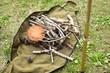 焚き木と松ぼっくり