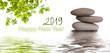 Leinwanddruck Bild - zen banner happy new year card 2019