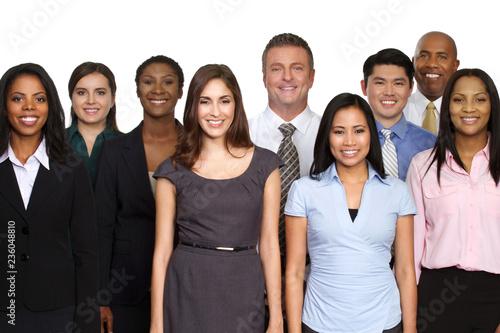 Leinwandbild Motiv Diverse group of business people.
