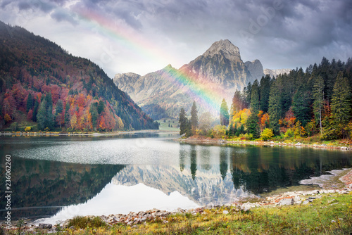 Lake Obersee autumn morning
