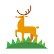 Deer. Vector illustration in a flat style isolated on white background. - 236068894