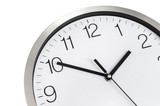 Close-up view of clock - deadline and time concept