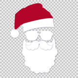 Santa with glasses on isolates background