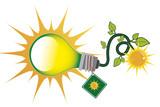 green sloar energy bulb - 236084642