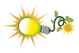 green sloar energy bulb - 236084653