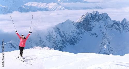 fototapeta na ścianę Skiing