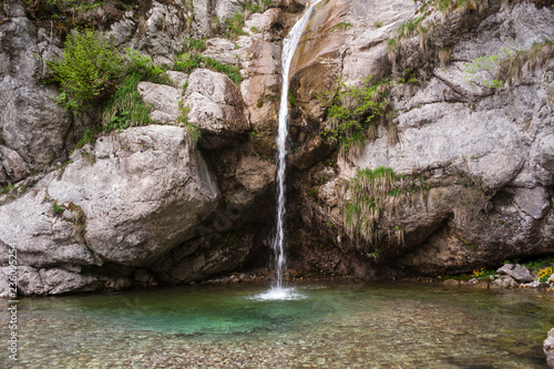 View of waterfall, Slovenia