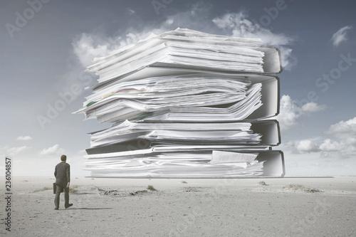 canvas print picture Ein Berg von Papierkram