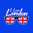i love london england distressed colorful urban poster apparel