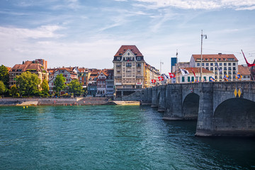 The river Rhine and the historic center of Basel © verve