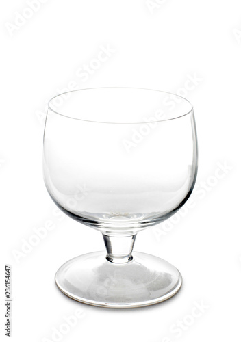 Vintage glass goblet on white background