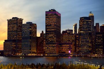 Amazing New York City Manhattan skyline panorama view over Hudson River