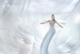Pretty, elegant blonde in a fairy place - 236186619
