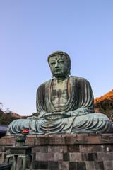 The Great Buddha of Kamakura. A large buddha statue at the Kōtoku-in in Kamakura, Kanagawa Prefecture, Japan. © marksteel
