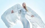 Portrait of an elegant, blond angel - 236195893
