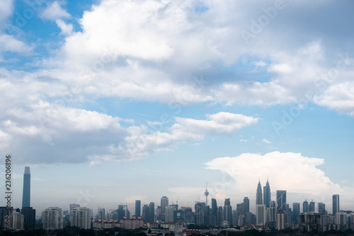 Kuala Lumpur cityscape in the morning atmosphere