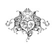 This is me - lettering text in ornate heart frame - 236209002