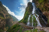 river and water fall in Nepal
