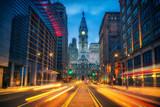 Philadelphia's historic City Hall at dusk - 236231607