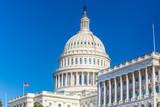 US Capitol over blue sky - 236232203