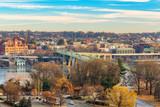 Traffic on Key bridge at winter morning, Washington DC, USA - 236232286