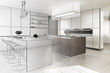 Leinwanddruck Bild - Contemporary Designed Kitchen (development)