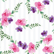 Hand-painted Watercolor pattern of a branch with flowers pink Magnolia flower spring card. Illustration of decorative floral design for wedding invitations and greeting cards. - 236242224