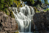 Beautiful waterfall from a river in Sweden