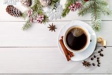 """Постер, картина, фотообои """"Image with coffee."""""""