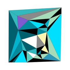 Abstract picture of polygon design and background