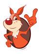 Vector Illustration of a Cute Squirrel. Cartoon Character - 236260083