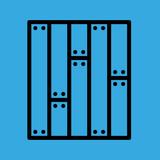parquet icon. flat design - 236265447