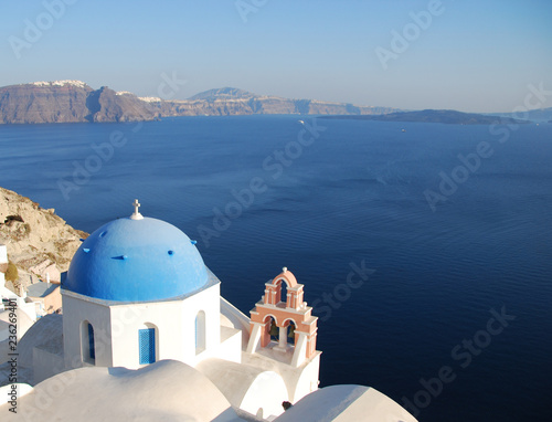 greek church in santorini greece