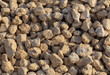 White gravel on a construction site as an abstract background