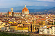 Leinwanddruck Bild - Aerial view of Florence, Italy with Duomo