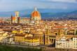 Leinwandbild Motiv Aerial view of Florence, Italy with Duomo