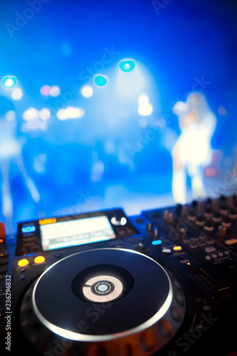 Dj playing the track in the nightclub at a party - 236296832