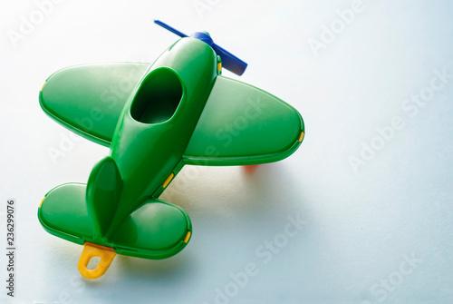 Green children's plane