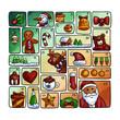happy merry christmas Advent calendar Vector - 236305239