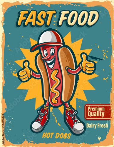 hot dog vintage logo - 236310448