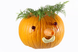 pumpkin decorated for a healthy diet - 236322805