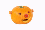 pumpkin decorated for a healthy diet - 236323403