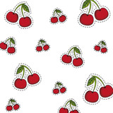 Cherries background pattern
