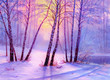 Christmas forest with river - 236332038