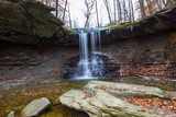 Blue Hen Falls in Autumn, Cuyahoga Valley National Park, Ohio