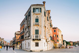 Venice, Italy - Crossing of Via Garibaldi with seven martyrs shore