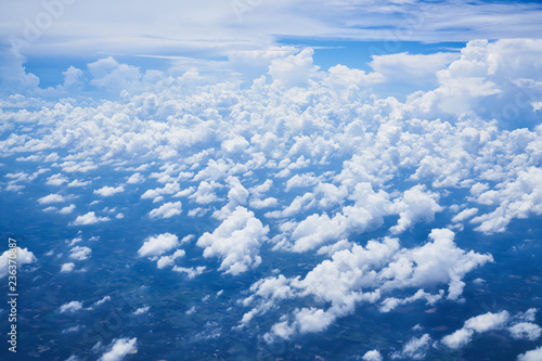 cloudscape and blue sky ,view from airplane - 236370887